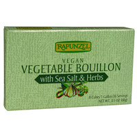 Rapunzel Bouillon Cubes - Vegetable - Vegan - Sea Salt and Herbs - 3.10 oz - Case of 12