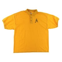 Gildan Mens Starfleet Uniform Knit Star Trek Polo Shirt