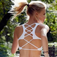 New 2016 Cross Strap Sports Bra - In Style Now