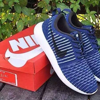 """NIKE"" Trending Fashion Casual Sports Shoes Navy blue"