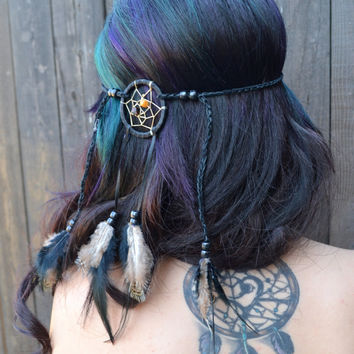 Black Dreamcatcher Headband #A1001