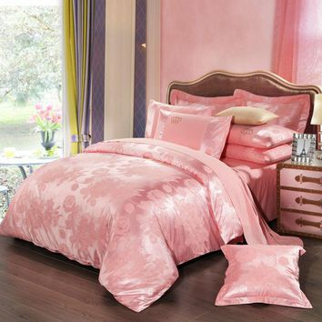 Cool BEYOND CLOUD 4 Pieces AB Sides Bedding Set Home/Hotel King Queen Luxury Design Quality Bed Sheet Duvet Cover Pillow Shams 022AT_93_12