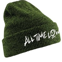 All Time Low Scratch Logo Green Beanie - Buy Online at Grindstore.com
