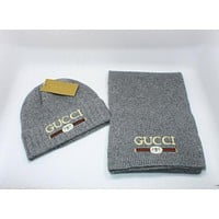 Gucci Knitted Hat & Scarf 4 Colors 1016#