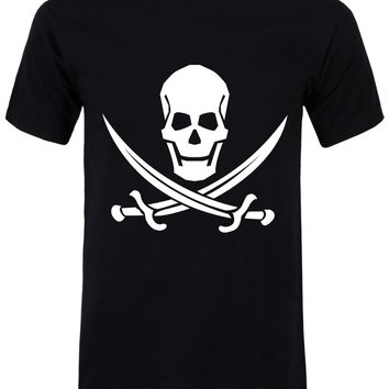 Pirate T-Shirt - Novelty Black Mens
