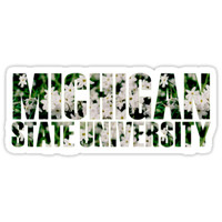 'Michigan State' Sticker by Jessica Kleman
