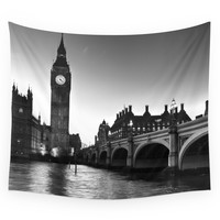 Society6 Westminster London Wall Tapestry
