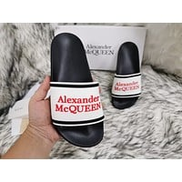 Alexander McQueen  Popular Summer Women's Flats Men Slipper Sandals Shoes