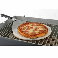 15-Inch Round Pizza Baking Stone Kit at Brookstone—Buy Now!