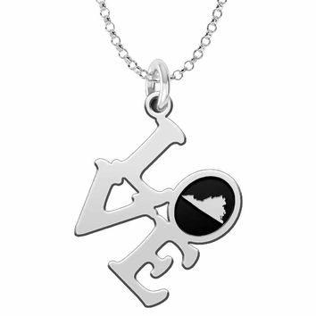 Virginia Love Necklace in Solid Sterling Silver