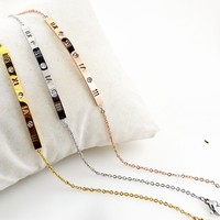 Ladies New Arrival Cute Sexy Shiny Jewelry Gift Korean Hot Sale Simple Design Titanium Roman Stylish Anklet [8169869319]