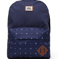 Vans Old Skool II School Backpack - Mens Backpacks - Blue - NOSZ
