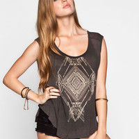 Chloe K Diamond Tribal Womens Muscle Tank Charcoal  In Sizes