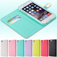 Original Ailun Brand I6 6S Case Luxury PU Leather Flip Case For iPhone 6 4.7/ 6S Card Slot Wallet Holster Phone Cover iPhone6