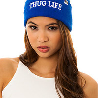Married to the Mob Beanie Thug Life Blue