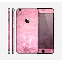The Pink Grungy Surface Texture Skin for the Apple iPhone 6 Plus