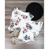 Dance All Night Floral Halter Romper in More Colors
