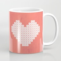 Heart X Red Mug by Fimbis