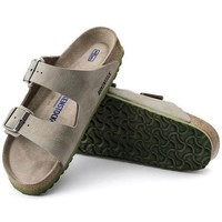 DCCK3 Sale Birkenstock Arizona Soft Footbed Birko Flor Desert Soil Taupe 1005137/1005138 Sandals