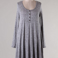 Heather Gray Tunic Knit Dress