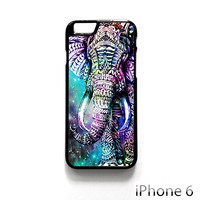 Elephant Aztec in Galaxy Nebula Space for Iphone 4/4S Iphone 5/5S/5C Iphone 6/6S/6S Plus/6 Plus Phone case