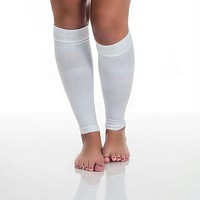 Remedy Calf Compression Running Sleeve Socks - Small-White