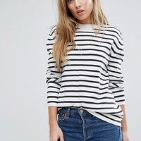 French Connection Breton Milano Stripe Sweater at asos.com