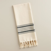Black Villa Stripe Kitchen Towel - World Market