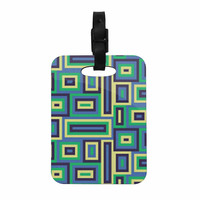 "Trebam ""Jesen"" Green Yellow Decorative Luggage Tag"