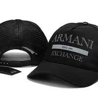 ARMANI embroidery Strap Cap Adjustable Golf Snapback Baseball Hat