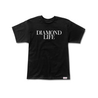 Diamond Life Tee in Black