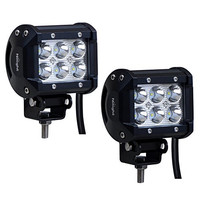 Nilight 2 X 18W 1260 lm Cree LED Spot Driving Fog Light LED Work Light Bar Mounting Bracket for SUV Boat 4 x 4 Jeep Lamp