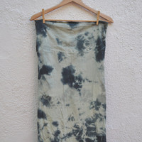 Tie Dye Stretch Knit Pencil Skirt in Sage Green Stormy by SewRed
