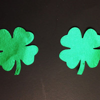 Lucky Four Leaf Clover Pasties
