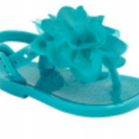 Baby & Toddler Turquoise Jelly Sandal with Flower