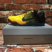 [Free Shipping ]Nike Kobe 11 Elite Bruce Lee Black Yellow Basketball Sneaker