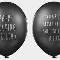 It's their party and they'll cry if YOU want to - Lead Balloons