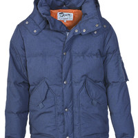 Down-Filled Indigo CWU with Detachable Hood 9425D2