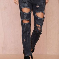 One Teaspoon Trashed Freebird Jeans - Black