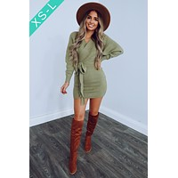 Picture Perfect Dress: Olive