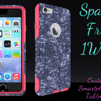 """OtterBox Commuter Series Case for 4.7"""" iPhone 6 - Custom Glitter Case for 4.7"""" iPhone 6 - Smoke/Pink"""