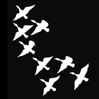 Hunting - Flock of Ducks Decal for Cars Trucks Home and More