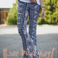 Printed Flare Bell Bottom Pants