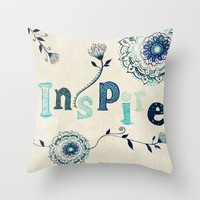 Inspire Throw Pillow by Rskinner1122