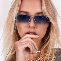 Quay Muse Fade Sunglasses Blue
