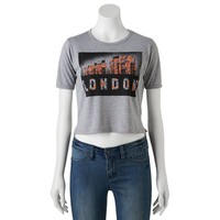 Mighty Fine London Telephone Booth Graphic Crop Top - Juniors, Size: