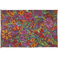 3D Lush Flower Cotton Floral Tapestry Wall Hanging Tablecloth Rectangle Poster