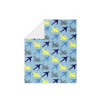 Planes Pattern Fleece Blanket