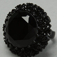 Karmaloop.com - Global Concrete Culture - The Crystal Cocktail Ring in Black by Betsey Johnson