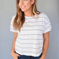 Onyx Stripe Crop Top